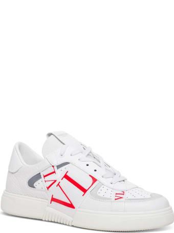 Valentino Garavani Vltn Low Top Sneakers In White Leather