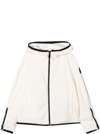 Moncler White Lightweight Jacket With Hood