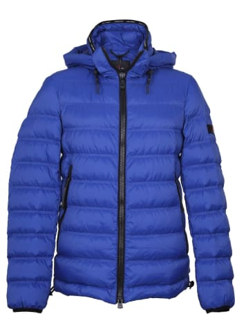 Peuterey Boggs Down Jacket In Blue Nylon