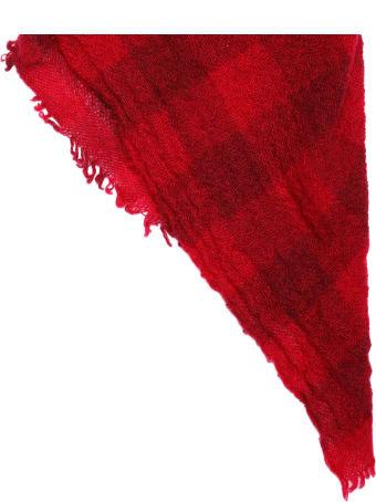 apuntob Raspberry Red Tartan Cashmere Scarf