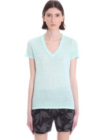 120% Lino T-shirt In Green Linen