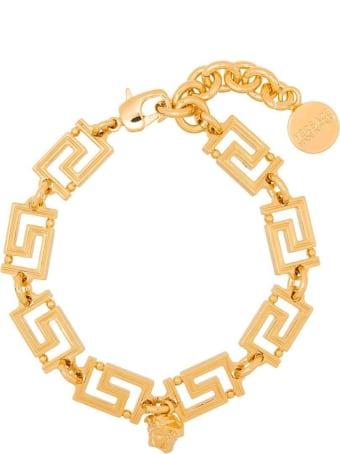 Versace Greca  Golden Metal  Bracelet With Logo