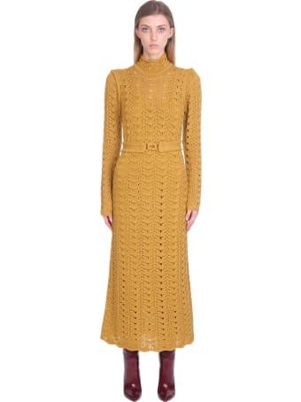 Zimmermann Dress In Yellow Wool