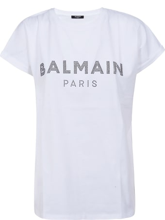 Balmain Studded Logo T-shirt