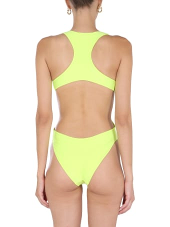 T by Alexander Wang Crystal Logo One Piece Swimsuit