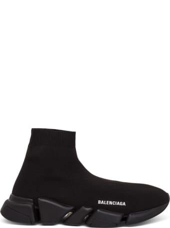 Balenciaga Speed   2 Black Knit Sneakers