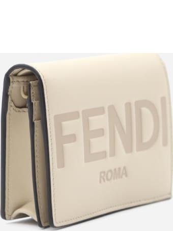 Fendi Bi-fold Leather Wallet With Engraved Logo