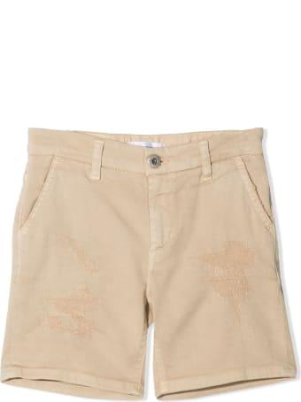 Dondup Beige Cotton-blend Denim Shorts