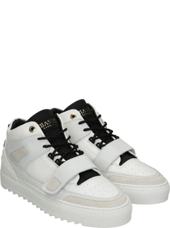 Mason Garments Firenze Mid Sneakers In White Leather