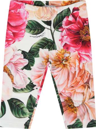 Dolce & Gabbana Multicolor Leggings For Baby Girl