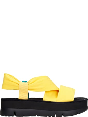 Camper Oruga Up Flats In Yellow Synthetic Fibers
