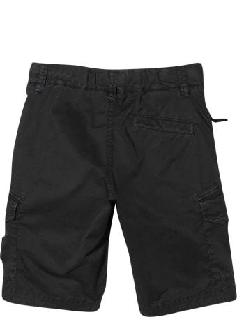 Stone Island Junior Black Bermuda Shorts