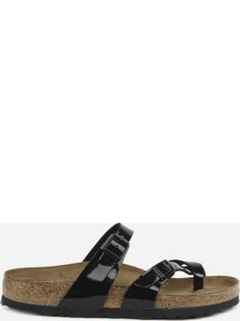 Birkenstock Mayari Sandals In Birko-flor In Shiny Patent Leather