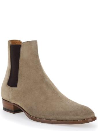 Saint Laurent Wyatt' Chelsea Boots In Suede