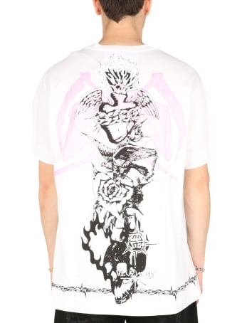 Givenchy Oversize Fit T-shirt With Gothic Prints