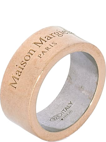 Maison Margiela Silver Ring With Logo