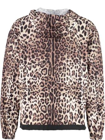 Dolce & Gabbana Hooded Techno Fabric Raincoat