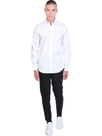 Theory Sylvain Shirt In White Cotton
