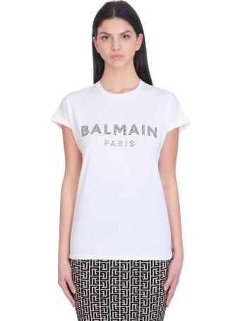 Balmain T-shirt In White Cotton