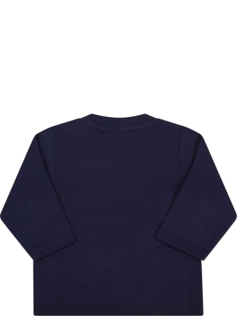Timberland Blue T-shirt For Baby Boy With Iconic Tree