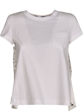 Sacai Back Paisley Print Hybrid T-shirt