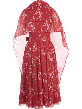 Samantha Sung Aster Printed Midi Crew Neck Sleeveless Dress