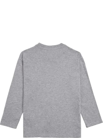 Kenzo Kids Long Sleeved Cotton T- Shirt With Print