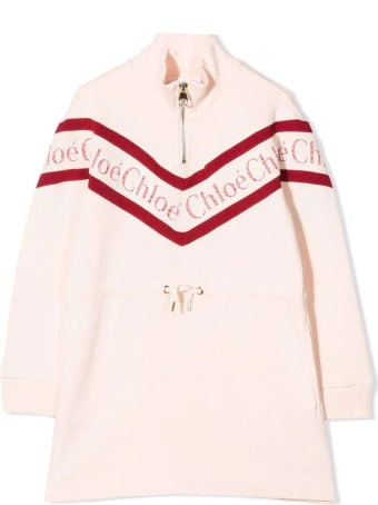 Chloé Pale-pink Cotton Pull-over Dress