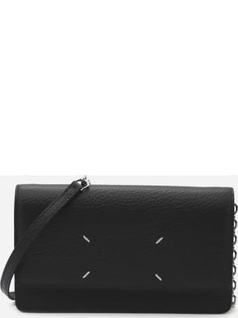 Maison Margiela Embossed Leather Wallet With Contrasting Logo Detail
