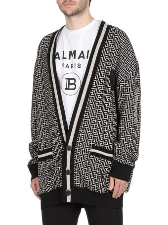 Balmain Monogram Knitted Cardigan