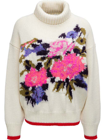 Forte_Forte Floral Print Wool Blend Sweater
