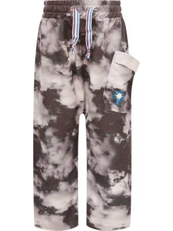 Goganga Black Pants With Grey Clouds
