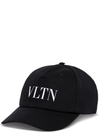 Valentino Garavani Vltn Black Cotton Hat