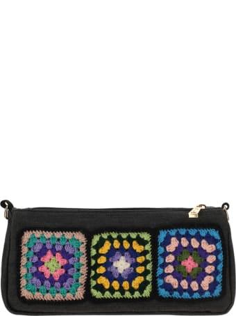 LaMilanesa La Milanesa Tris Crochet Denim Bag