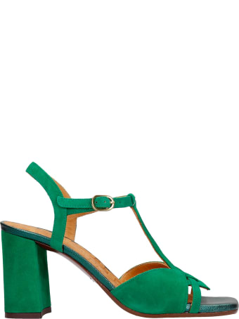 Chie Mihara Zizi Sandals In Green Suede