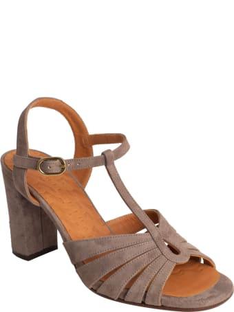 Chie Mihara Balita Crossed Suede Sandal