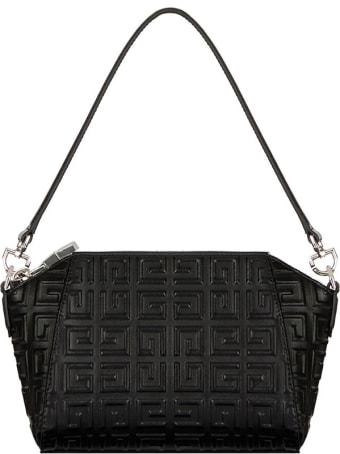 Givenchy Antigona Crossbody Bag In Black Leather