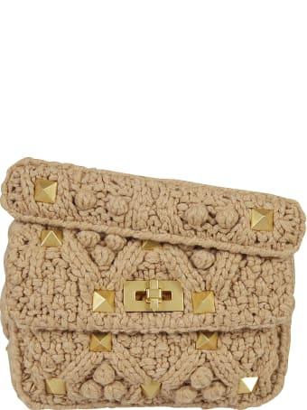 Valentino Garavani Studded Knitted Shoulder Bag