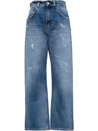 Mauro Grifoni Wide Blue Denim Leg Jeans