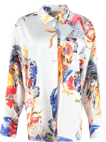 MSGM Oversize Printed Shirt