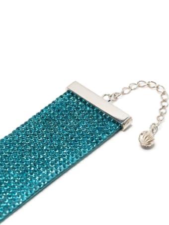 Nué Aquamarine Choker With Crystals