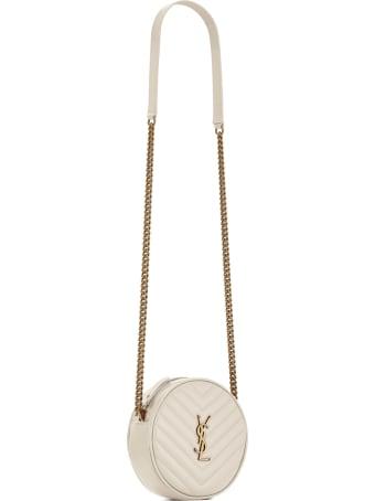 Saint Laurent Camera Bag In Crema Soft Leather