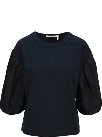 See by Chloé See By Chloe' Cotton Puff-sleeve T-shirt