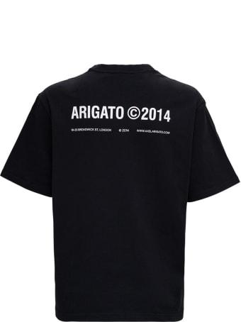 Axel Arigato Black Cotton T-shirt With Logo