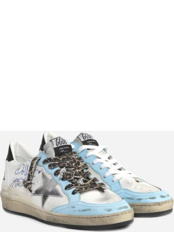 Golden Goose Ball Star Sneakers In Canvas With Leather Inserts
