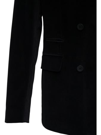 Tonello Double-breasted Black Viscose Blend Jacket