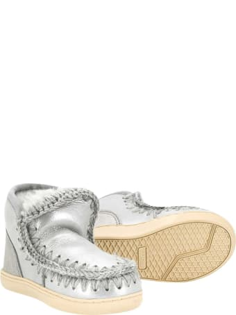 Mou Silver Ankle Boots