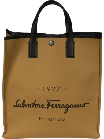Salvatore Ferragamo Signature Logo Shopper Bag