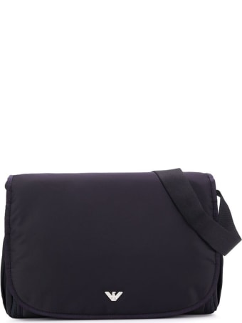 Emporio Armani Blue Changing Bag With Logo