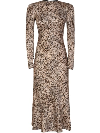 WANDERING Animalier Midi Dress
